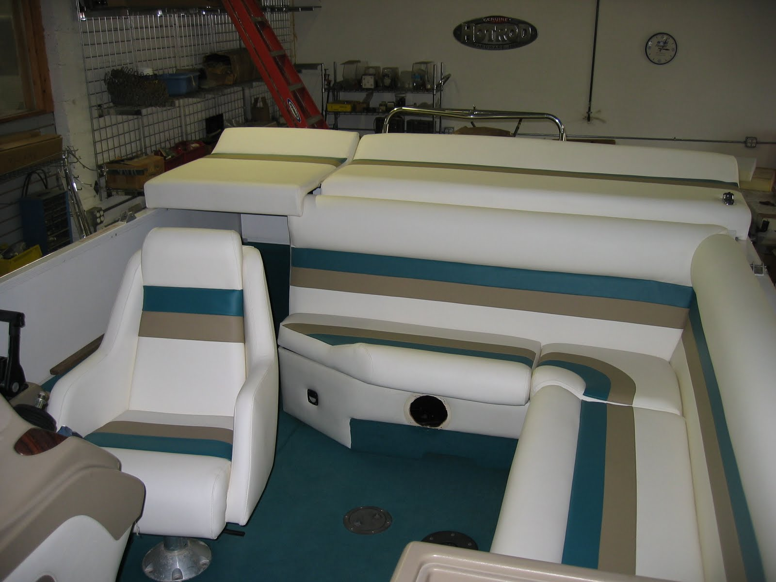 Homestyle Custom Upholstery And Awning Full Boat Interior