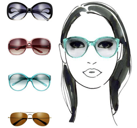 Glasses Frame Oval Face : The Adorkable One.: Finding the Right Sun Glasses for Your ...