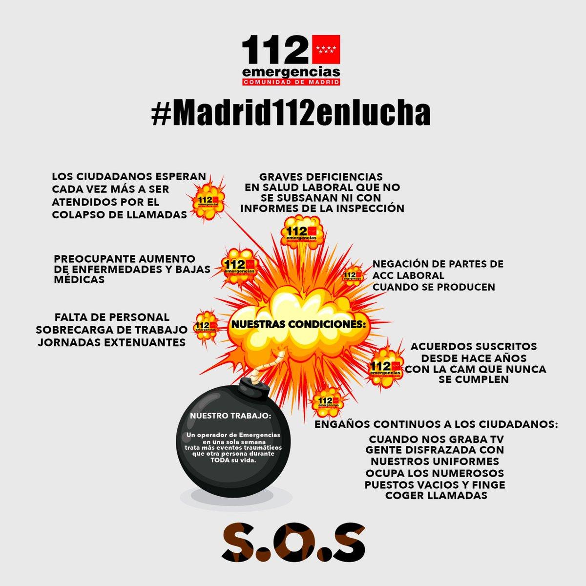 Sigue la Huelga del 112