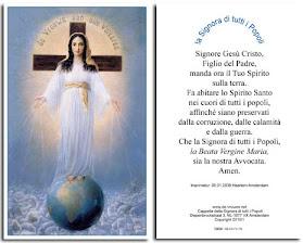 Preghiera Della Signora Di Tutti i Popoli