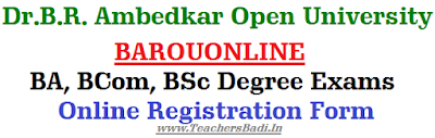 BAROUONLINE, Degree Exams,Online Registration Form