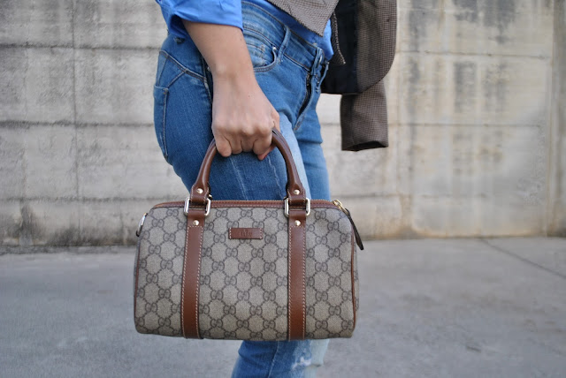 bauletto gucci borsa gucci borse invernali come abbinare la borsa marrone abbinamento borsa marrone gucci bag how to wear brown bag how to combine brown bag gucci bag street style mariafelicia magno fashion blogger color block by felym fashion blog italiani fashion bloggers italy