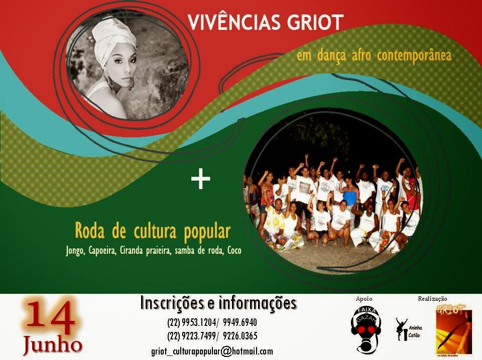 Vivências GRIOT em Dança Afro contemporânea + Roda do mês GRIOT