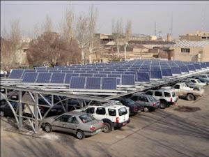 تصویر نخستین پارکینگ دومنظوره خورشیدی مسقف ایران:اداره برق شهرستان تبریز