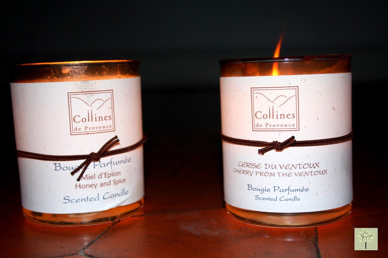 bougies collines provence miel d'épices cerise du ventoux bio naturel
