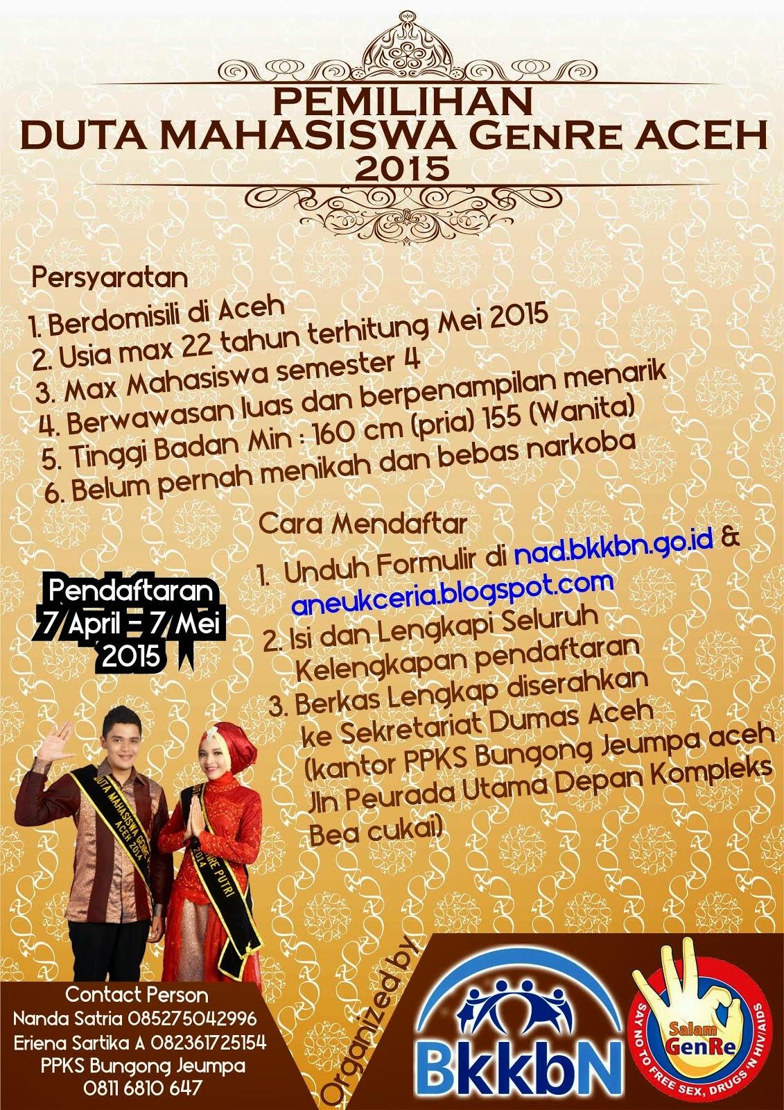 Pemilihan Dumas GenRe Aceh 2015