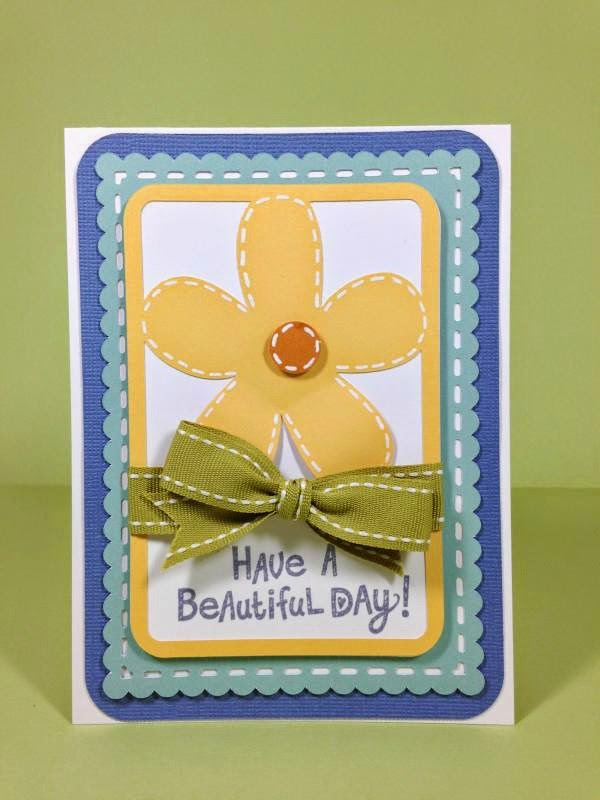 Close To My Heart Artfully Sent Cricut Cartridge Beautiful Day card