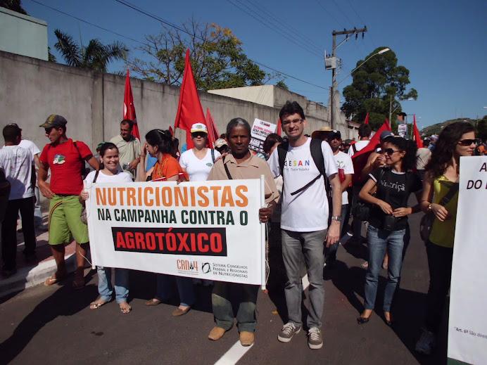 Dia Mundial da Alimentação e Marcha contra Agrotóxicos (16/10/12) GESAN participando ativamente
