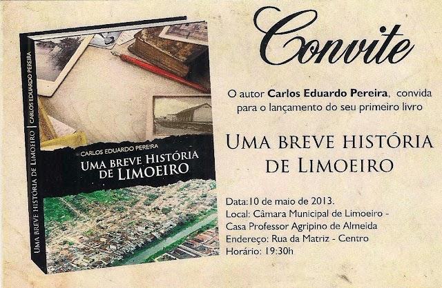 Uma Breve História de Limoeiro [convite]