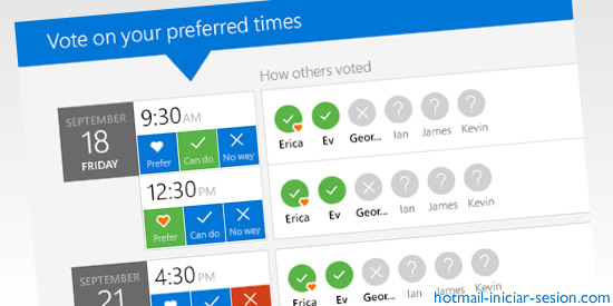 FindTime  en hotmail iniciar sesion