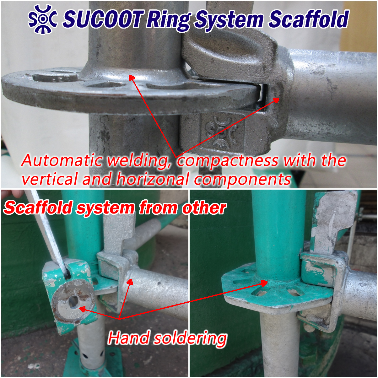 System Scaffold Components : Sucoot ring system scaffolding rental sale