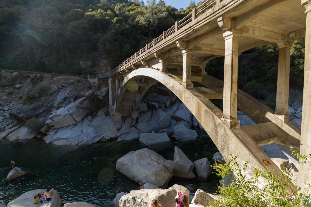 Swimming Holes Of California South Yuba River Near Bridge July 2012