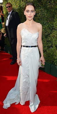 Emilia Clarke, 2013 Emmys, red carpet, awards show