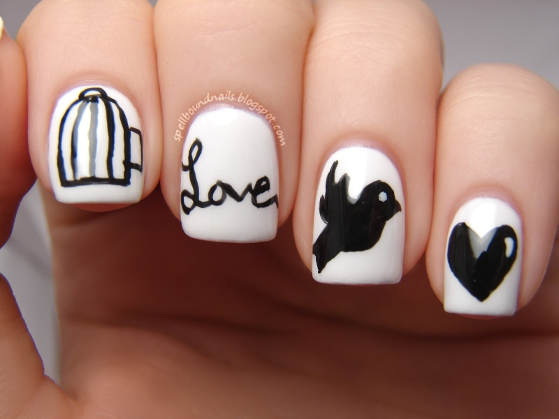 Nail Art Style W Is For