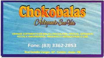 CHOKOBALAS NO CENTRO DA CIDADE DE AREIA PB