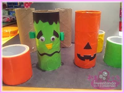 Reciclagem de rolo de papel higiênico Abóbora