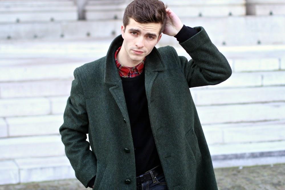 LODEN-Tartan-chemise-UNiqlo-Cheapmonday-skinny-Carreaux-chaussettes-royalties-Churchs-chaussures-vertes-cachemire-pull-Jcrew-Ursul-bracelet-cuir-BLog-Mode-Homme-Paris-Mensfashion1