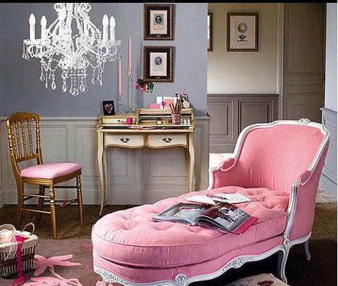 Décor em rosa