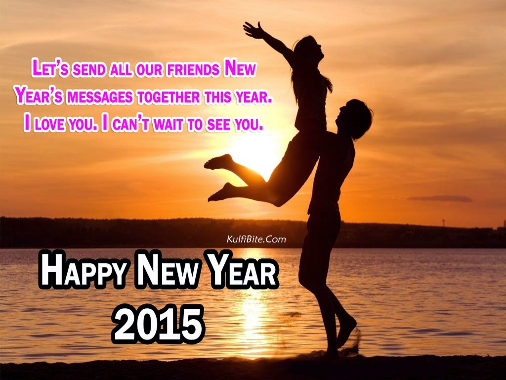 Wallpaper couple Love New Year : Happy New Year HD Wallpapers With Love Quotes Wish Message Quotes