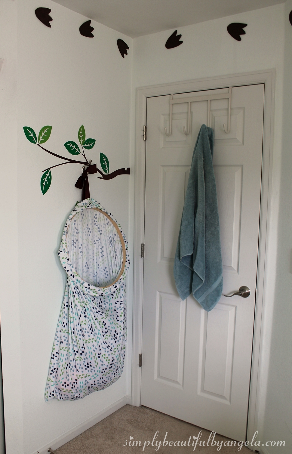 The Tree Branch Decal Was Actually Already There, But Once I Hung The Hamper  Up I Realized How Cute It Looked, Almost As If The Hamper Was Hanging From  The ...