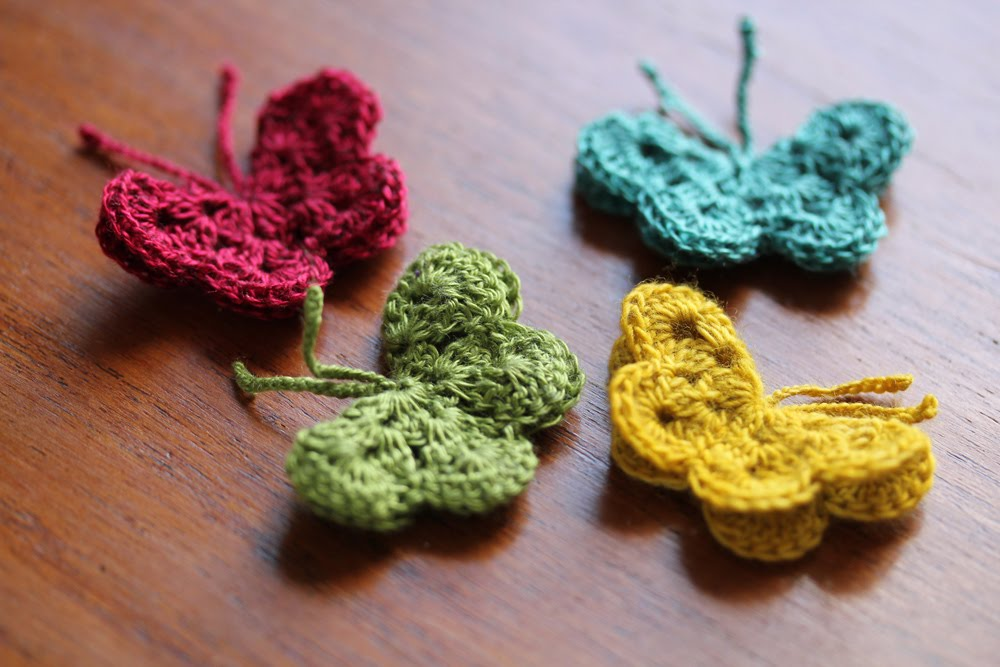 Crochet Butterfly Pattern : crochet butterfly tutorial Homegrown Joy