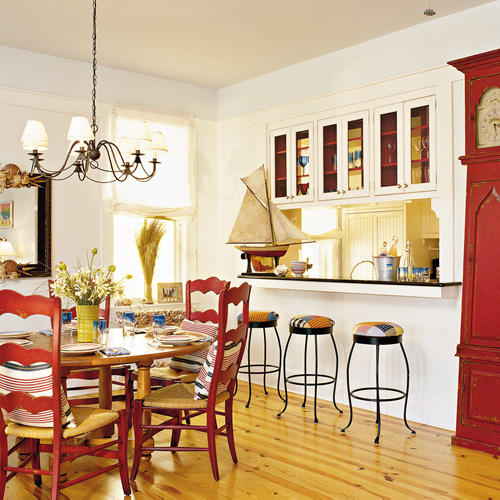 Red Decor For Kitchen: Seaside Style: Three Cheers For Red White And Blue