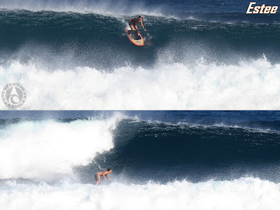 Paddle Surf Hawaii - Estee Okumura - Dropping in on a Paddle Surf Hawaii Wood Veneer Ripper