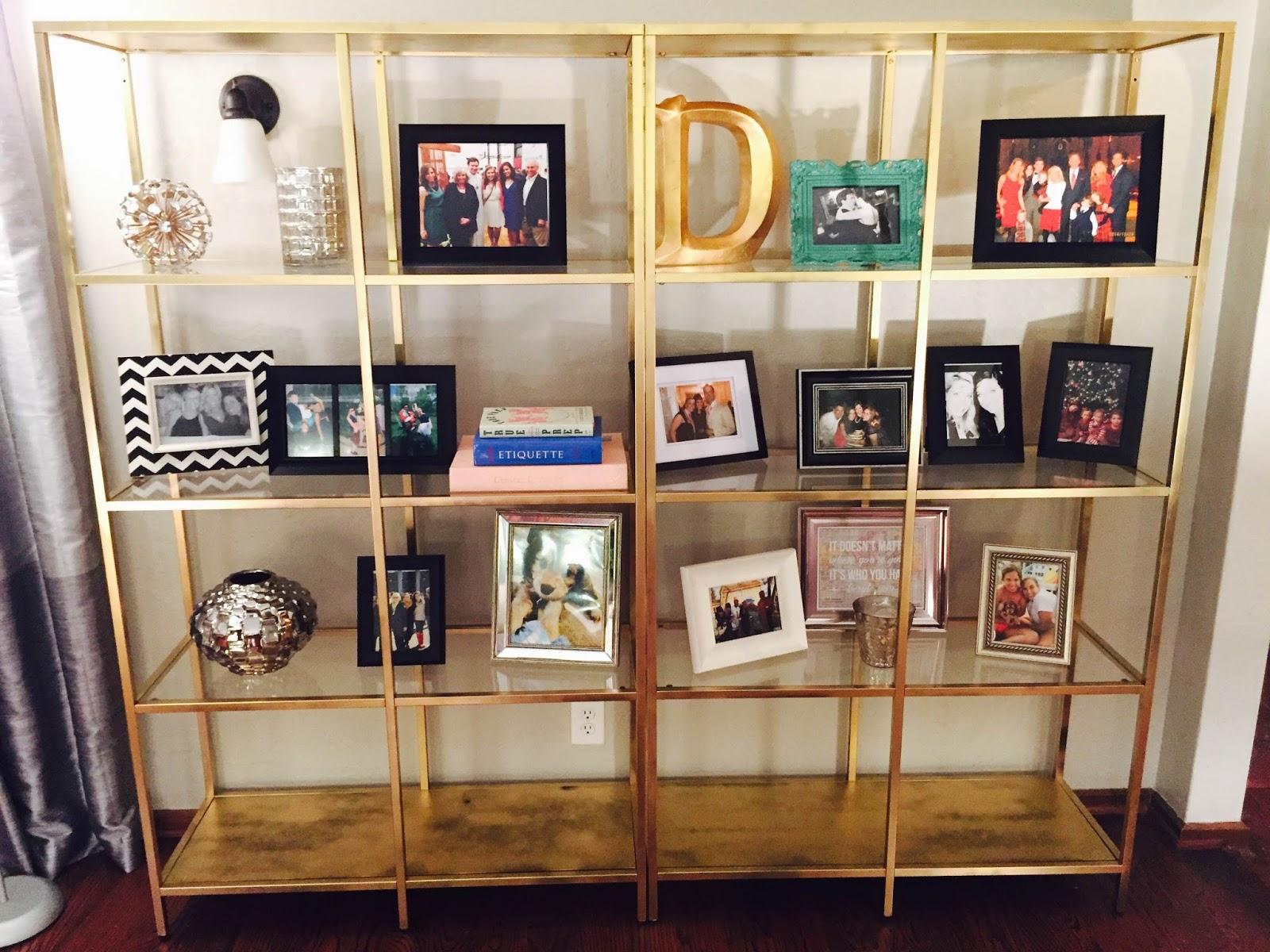 diy gold bookshelves - Gold Bookshelves