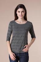 Bluza gri cu auriu din tricot B301 (Ama Fashion)