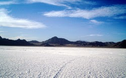 Bonneville Salt Flats near Wendover, Utah by David Jolley