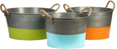 Stylish Coastal Bins, Baskets And Boxes From Caronu0027s Beach House, Like This  Set Of Three Tubs With Rope Handles.