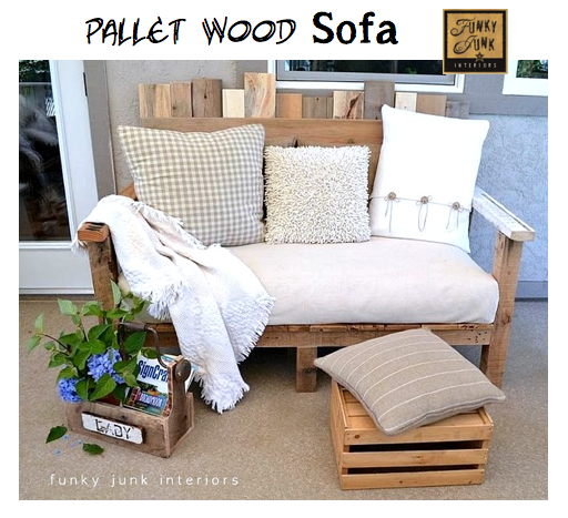 pallet wood sofa by Funky Junk Interiors
