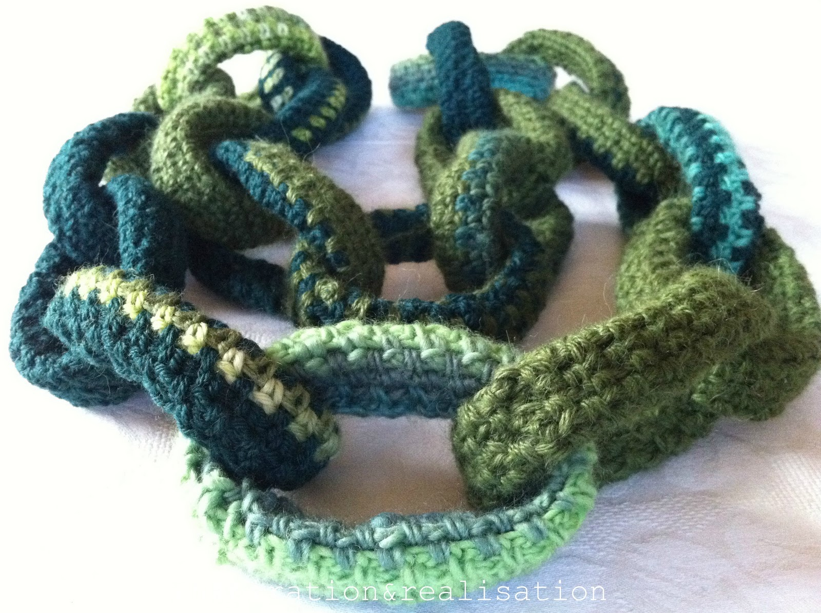Crocheting Into Chain : ... and realisation: DIY fashion blog: crochet: a chain-link scarf