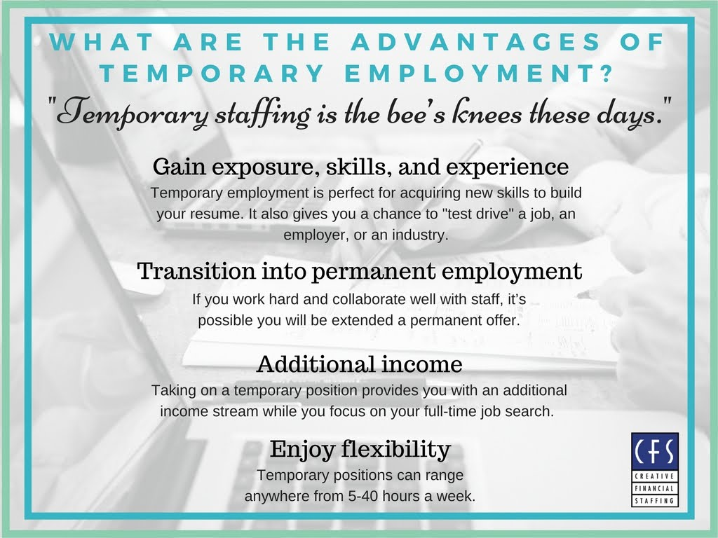 creative financial staffing advantages of temporary employment