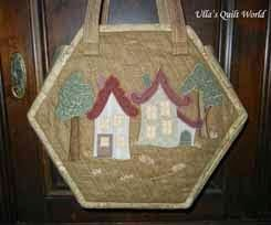 Quilt bag Houses, hexagon - tutorial, pattern