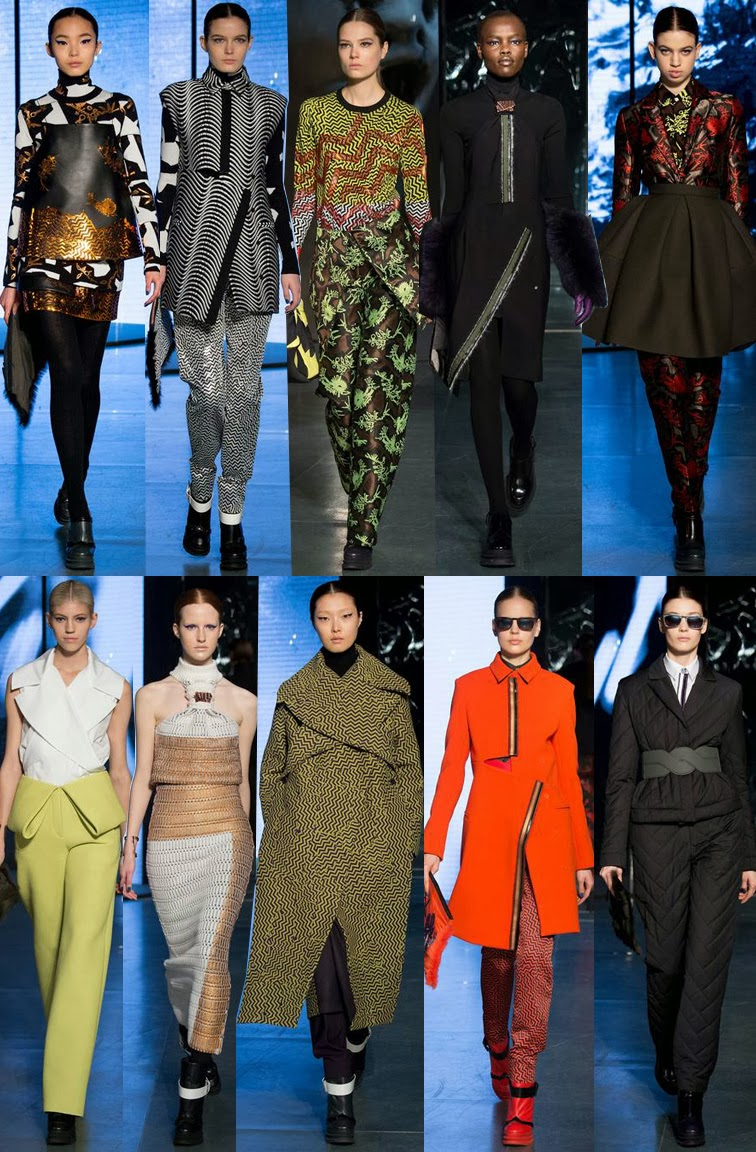 Kenzo fall winter 2014 runway images, FW14, AW14, PFW, Paris fashion week