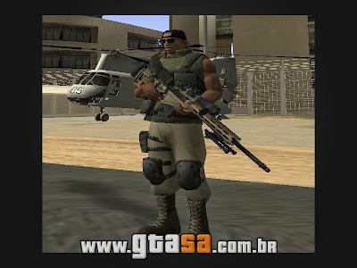 MSR Sniper Rifle para GTA San Andreas