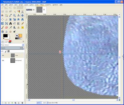 GIMP - Align the Base Vane