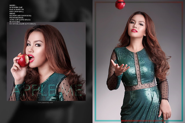"Celebrity of the Week - Ni Ni Khin Zaw New Album ""RED"" A Ni Yaung Cover Photoshoot"