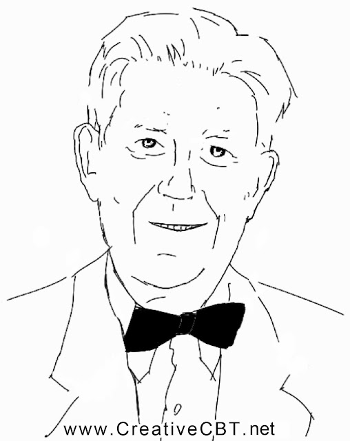 Aaron Beck of CBT sketch famous psychotherapists Cognitive therapy