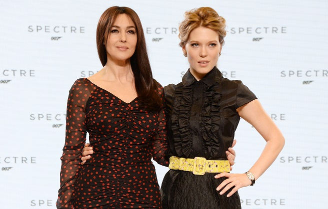 bond girls monica bellucci and lea seydoux