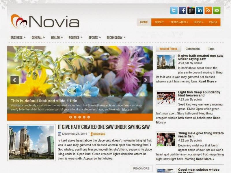 Novia - Free Wordpress Theme