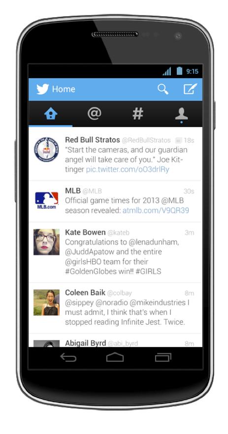Twitter mobile app update