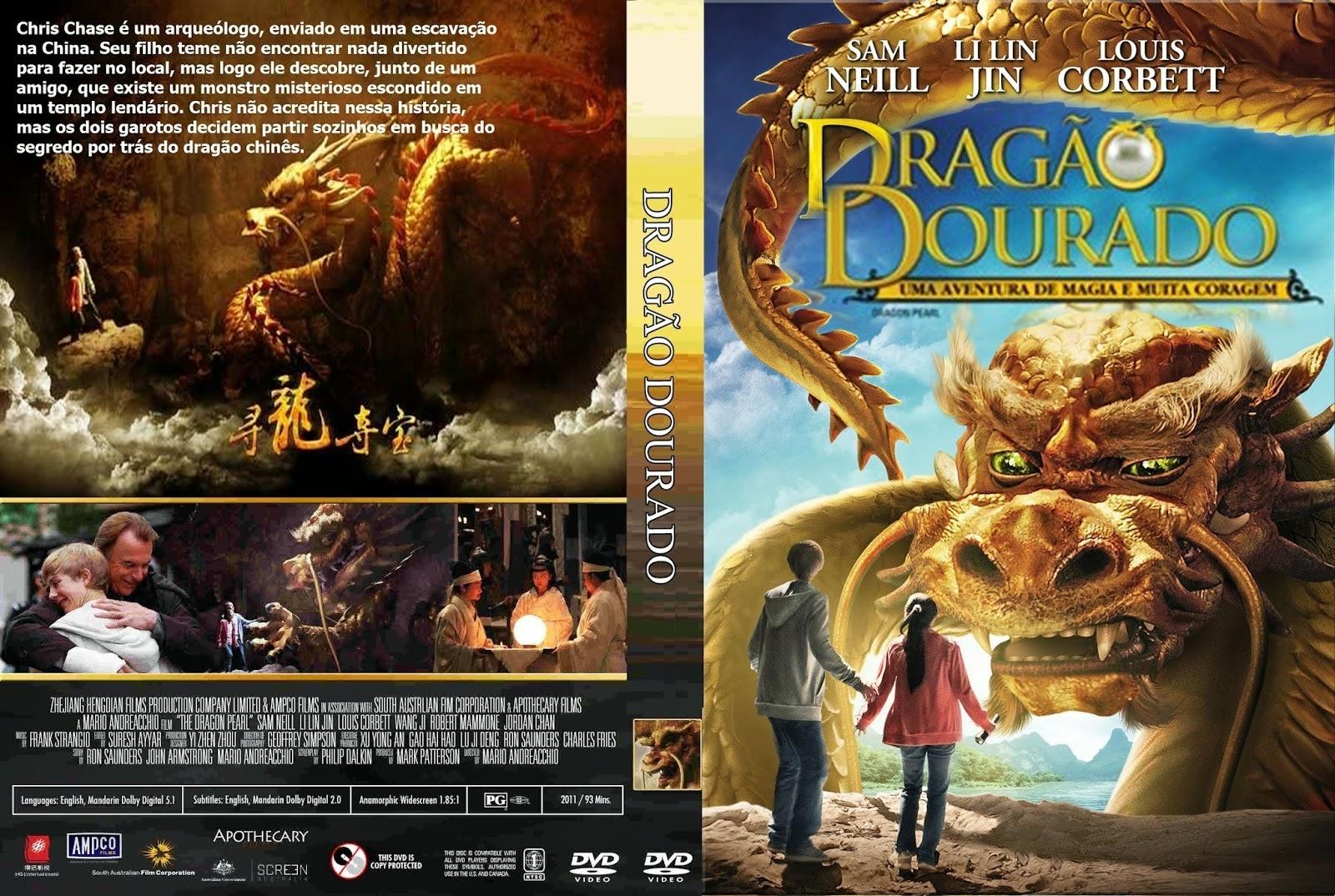 Filme Dragão Dourado DVD Capa