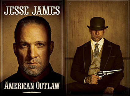 Jesse James face appears on the cover much like it would on a western style ...