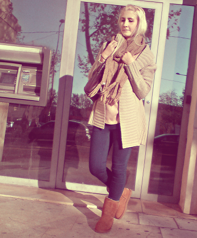Bottes bleu marine fille - Tenue avec bottines marron ...