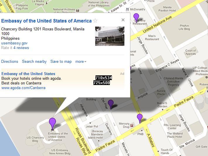 Map Us Embassy Manila: Map Of Us Embassy Manila Philippines At Usa Maps