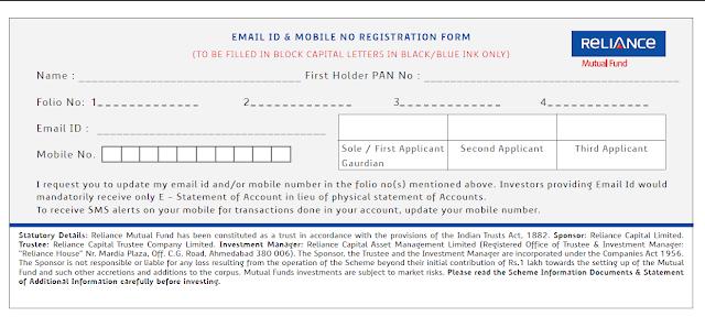 principal mutual fund common application form download