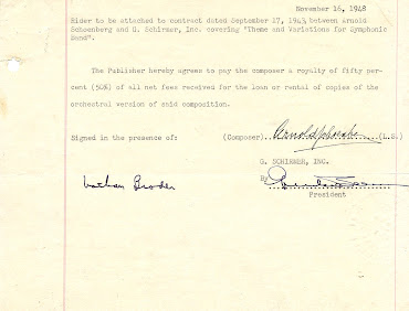 Arnold Schoenberg Autographed Contract