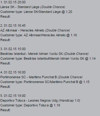todays sure bets